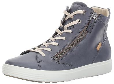 7d2a5f18a0 ECCO Women's Women's Soft 7 Zip High Top Fashion Sneaker Ombre 35 EU ...