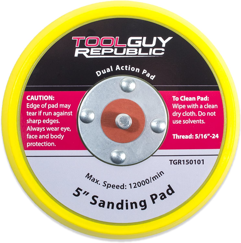 """TGR 2 Pack 6/"""" Hook and Loop Sanding Pad with 5//16/""""-24"""