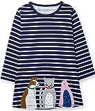 TTYAOVO Girls Cotton Long Sleeve Striped Cartoon