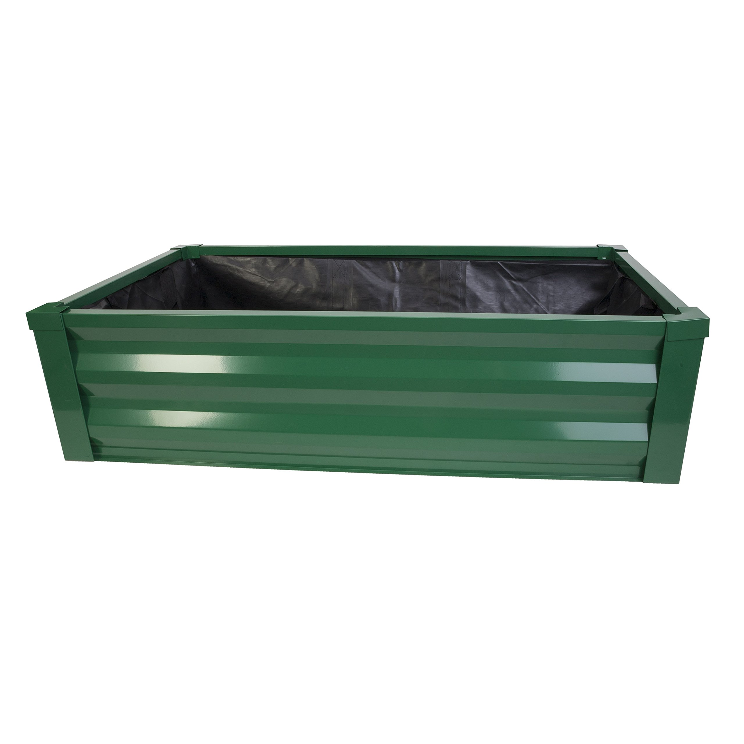 Panacea 83394 Raised Garden Bed Planter with Liner, Frost Green