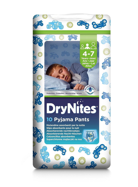 Pantalon de pyjama pour garçon Huggies DryNites - 4-7 ans (38-66 lb / 17-30 kg), 3 x Paquets de 10 (30 pantalons) (varie selon la conception) 2141067