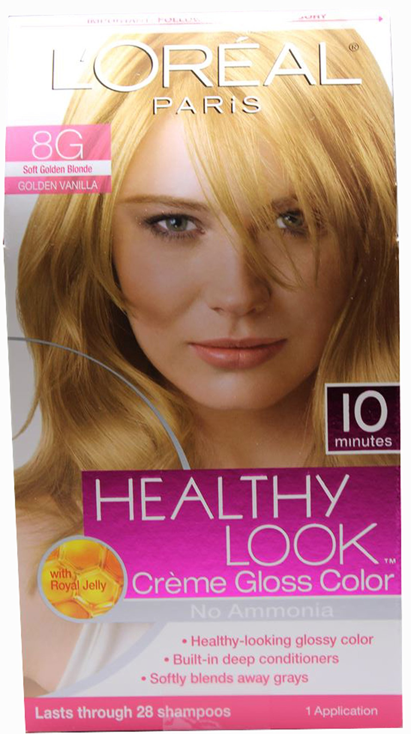 L'oreal Paris Healthy Look Crème Gloss- Soft Golden Blonde 8g (Pack of 6)