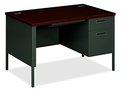 Exceptionnel HON Metro Classic Small Office Desk   Right Pedestal Desk With File Drawer,  48u0026quot;