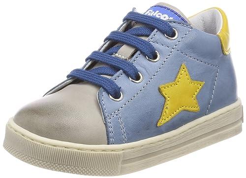 Falcotto Sirio, Zapatillas para Bebés, Multicolor (Grigio-Jeans-Giallo 9133), 22 EU