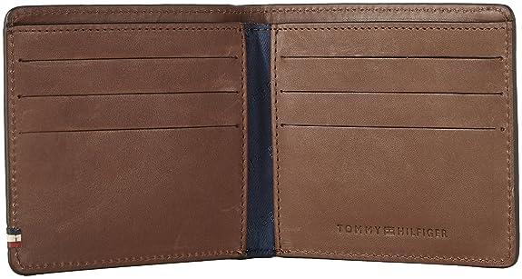 Tommy Hilfiger - Th Burnished Cc & Back Coin Zip, Monederos Hombre, Multicolour (Testa Di Moro), 5x20x16 cm (W x HL)