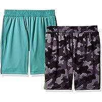 Marca Amazon - Spotted Zebra - Pantalones cortos deportivos con tejido de malla para niño (2 unidades)