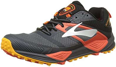 Brooks Men s Cascadia 12 GTX¿ Black Ebony Cherry Tomato 8 D US ee5dc1efd25