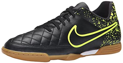 4486387e8d7b Nike Men's Tiempo Rio II IC Indoor-Competition Soccer Shoe Black Size 6.5  ...