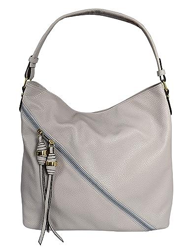 Amazon.com: Peach Couture - Bolso bandolera con cremallera ...