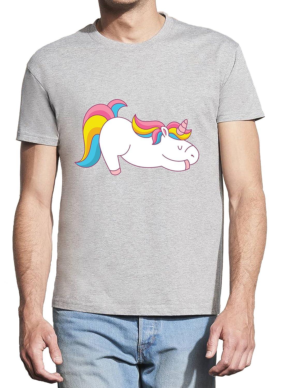 BlackMeow Unicorn Yoga Funny Design Hombre Short Sleeve ...
