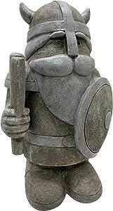 Design House 395871 Statuary Indoor/Outdoor Viking Gnome Figurine Statue for Garden & Patio Décor