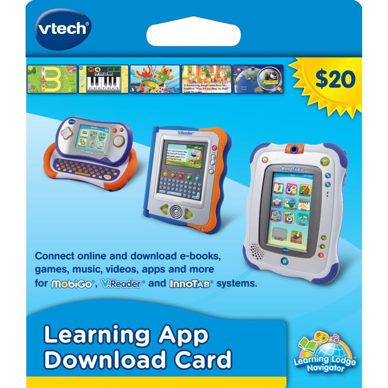 Amazoncom apps games - Amazon Com Vtech Learning Application Download Card Works With Innotab Mobigo And V Reader Toys Games