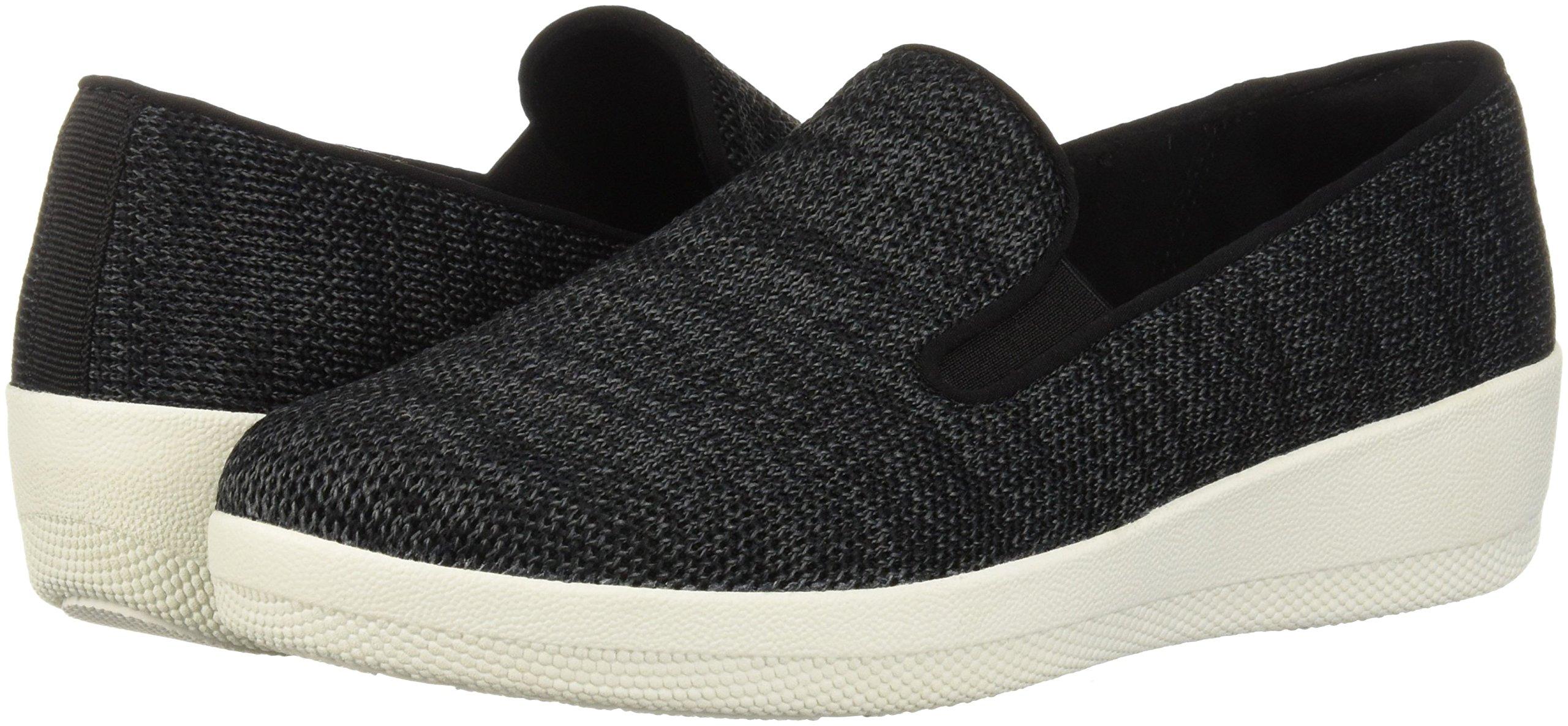 FitFlop Women's Superskate Uberknit Loafers, Black/Soft Grey, 8.5 M US by FitFlop (Image #5)