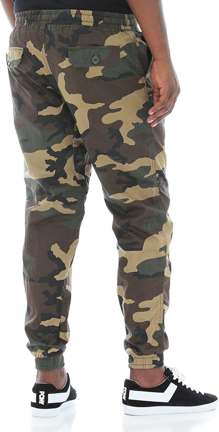 ABLANCHE men's camouflage joggers available
