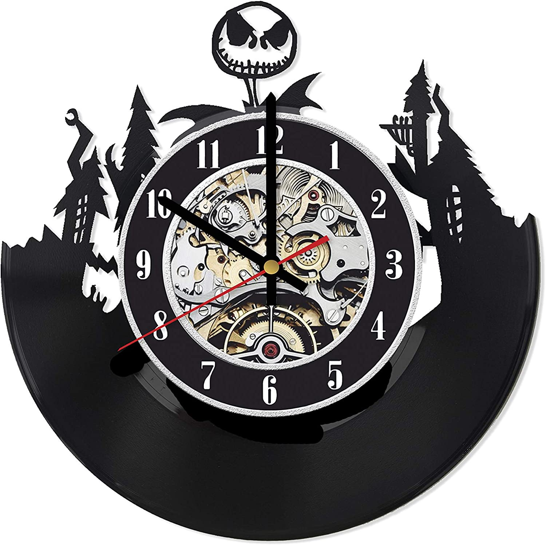 Jack Skellington Vinyl Clock, Nightmare Before Christmas Wall Clock, Nightmare Before Christmas Decor, Jack Skellington Wall Art, Gifts for Husband, Wedding Gift