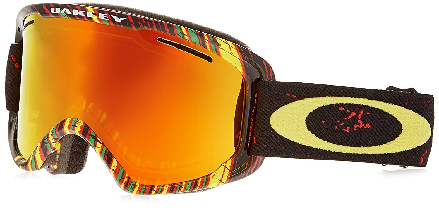 5247ddc6e31 Amazon.com   Oakley O2 XM Stumped Rasta Mens Snow Snowmobile Goggles  Eyewear One Size Fits All Fire Iridium   Sports   Outdoors