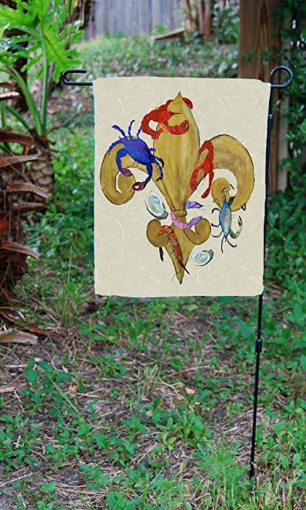 Amazon.com : Cajun Fleur de lis Garden Flag From Art : Outdoor Flags ...