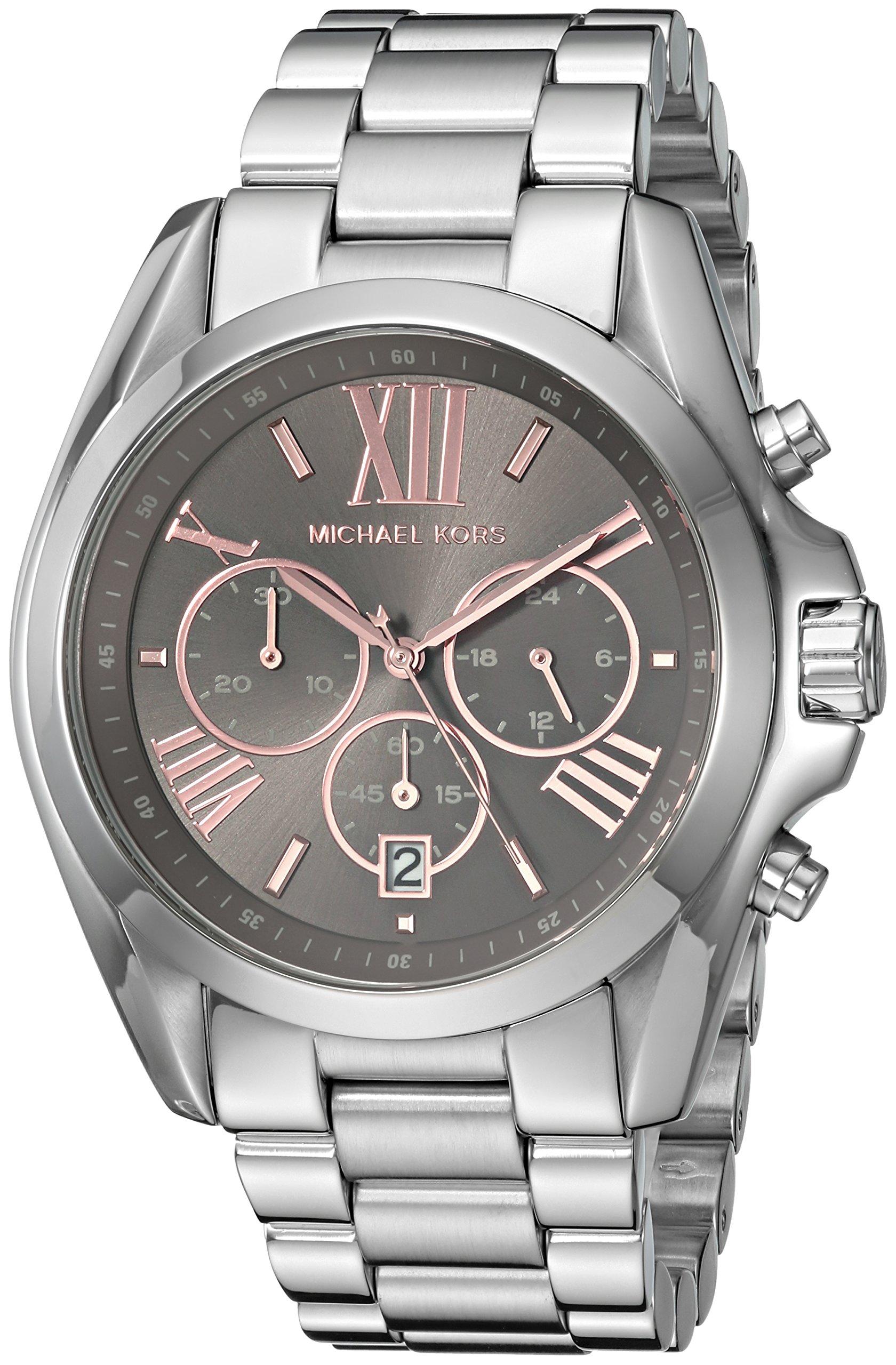 Michael Kors Women's 'Bradshaw' Quartz Stainless Steel Casual Watch, Color:Silver-Toned (Model: MK6557)
