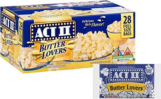 Act II Butter Lovers Microwave Popcorn - 28/2.75 Ounce