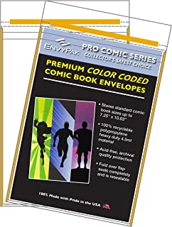 product image for EnvyPak Premium Color Coded Comic Book Sleeves Ultra Thick 4.5mil Resealable Fold Over Flap (Pack of 30) (Gold)