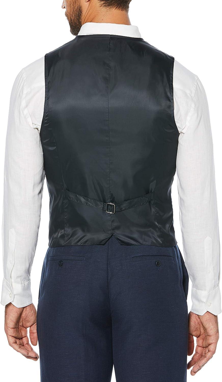 Cuba Vera Mens Cubavera Mens Easy Care Linen Blend Vest Business Suit Vest
