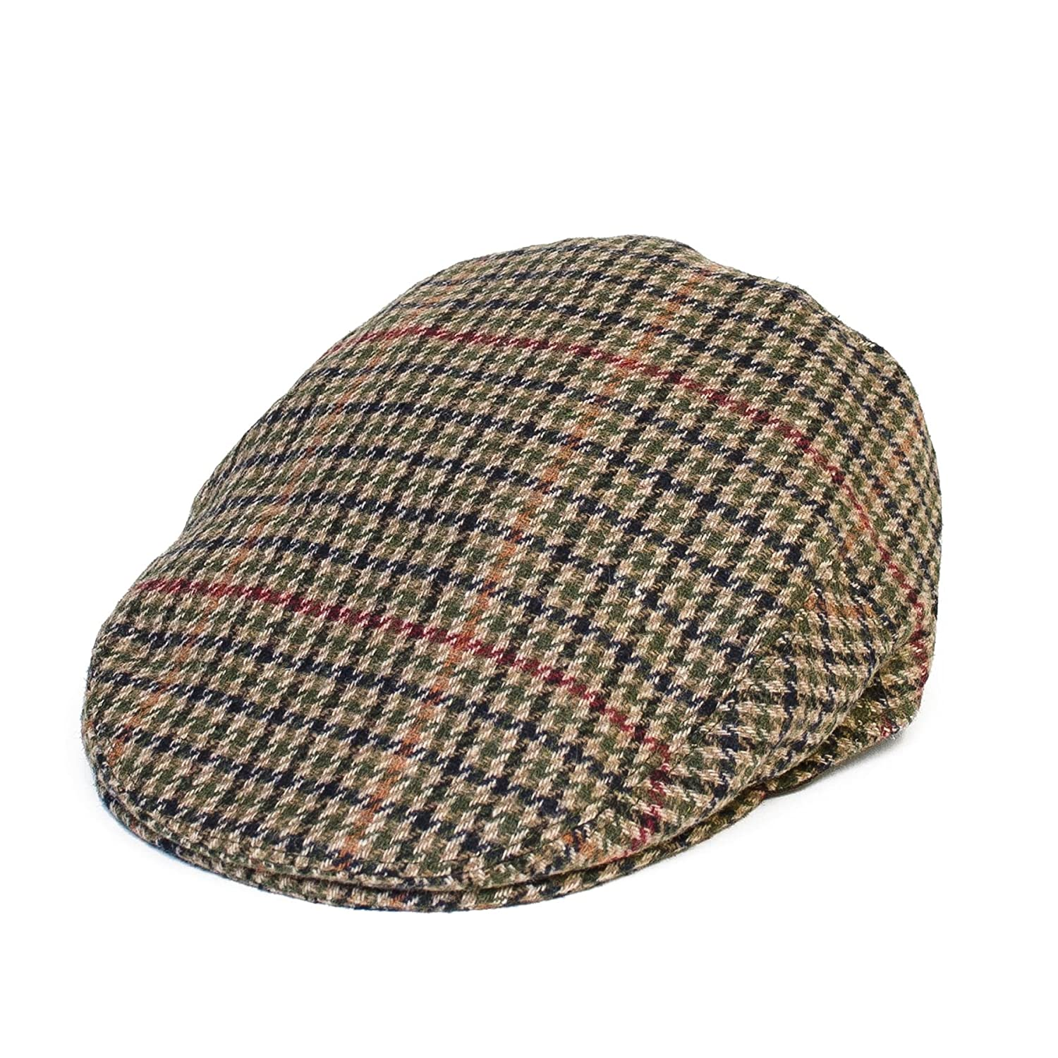 67bbc4744c9a9 Country Style Ladies Mens Womens Unisex Wool Blend Ivy Flat Caps with Dogtooth  Houndstooth Pattern (Grey