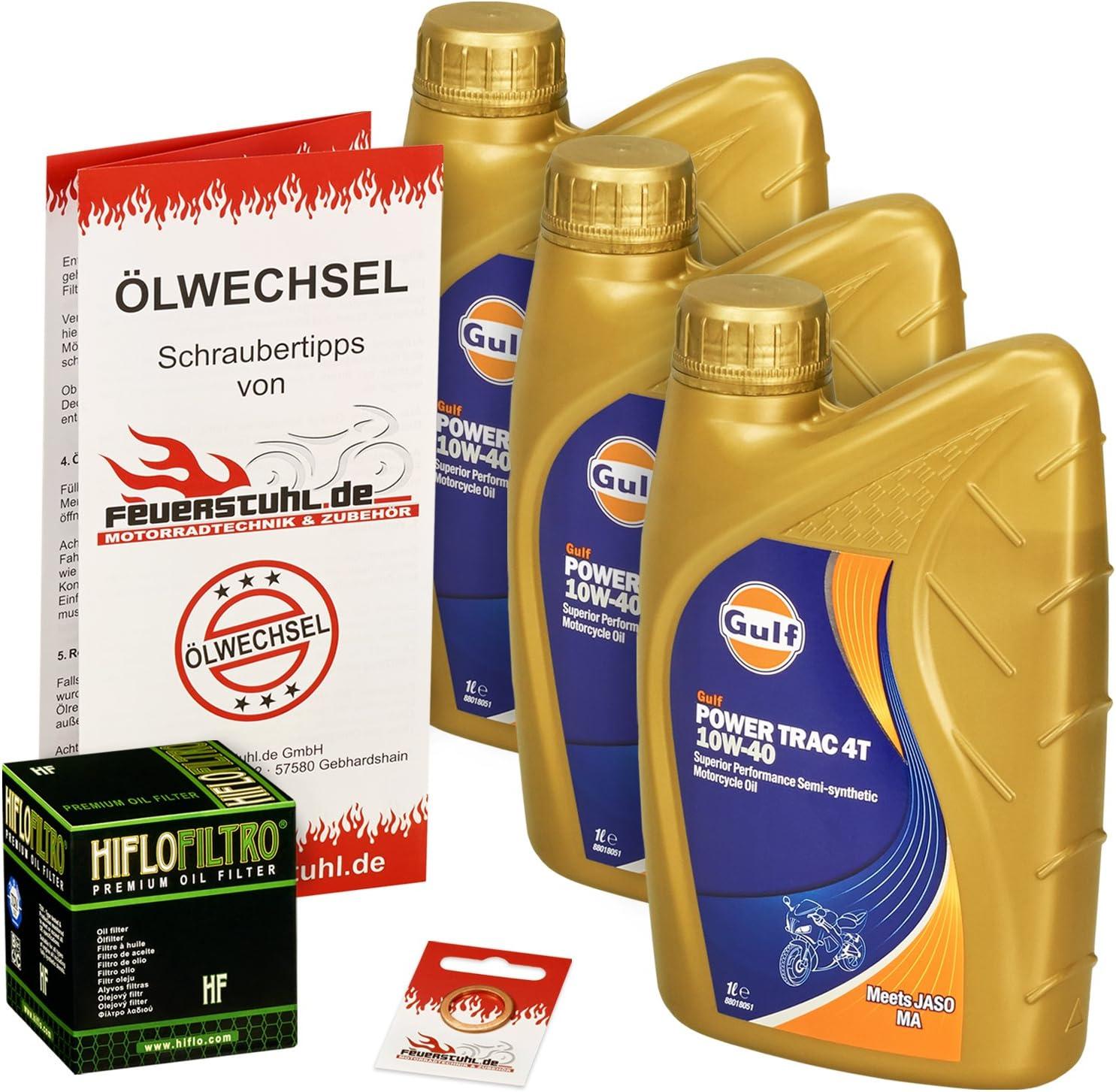 Gulf 10w 40 Öl Hiflo Ölfilter Für Honda Vt 600 C Shadow 88 00 Pc21 Ölwechselset Inkl Motoröl Filter Dichtring Auto