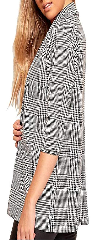 Socluer Womens Basic Vest Elegant Chic Blazers Slim Fit Office Suit Cardigan Draped Lapel Coat with a Button