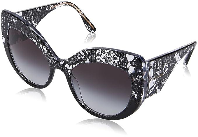 bbb7509409 Dolce & Gabbana 0Dg4321, Gafas de sol para Mujer, Black Gradient Lace 55