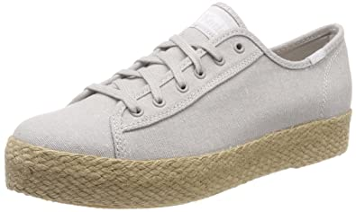 25e57d210 Keds Tpk Kick Jute Lt. Gray, Baskets Femme: Amazon.fr: Chaussures et ...
