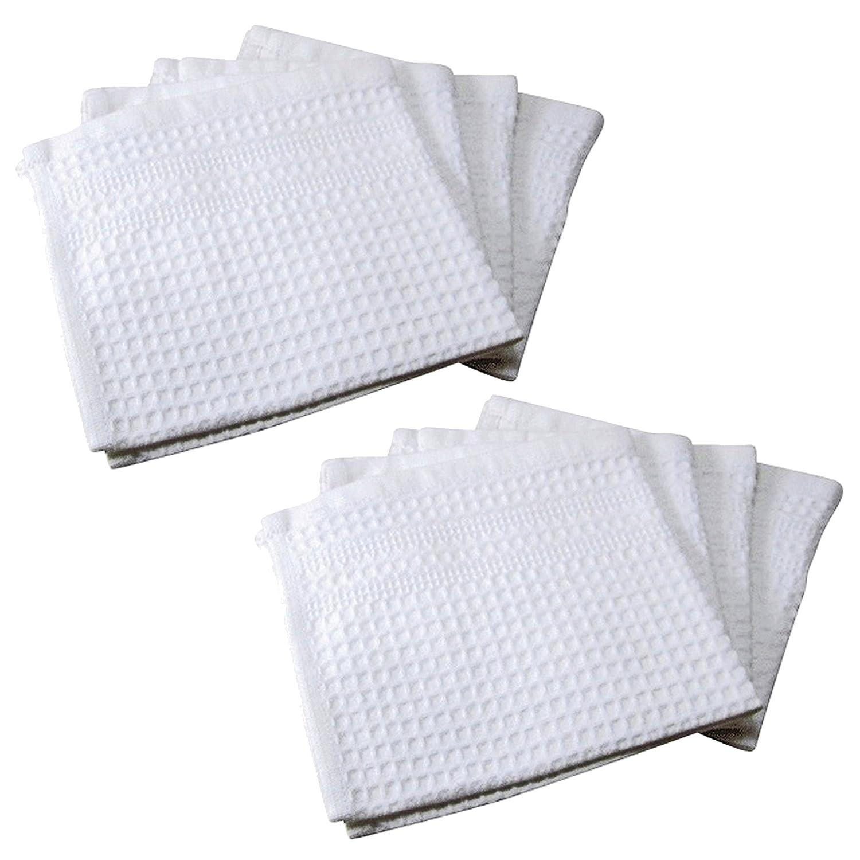 ワッフル織りWashclothセット – ホワイト 13