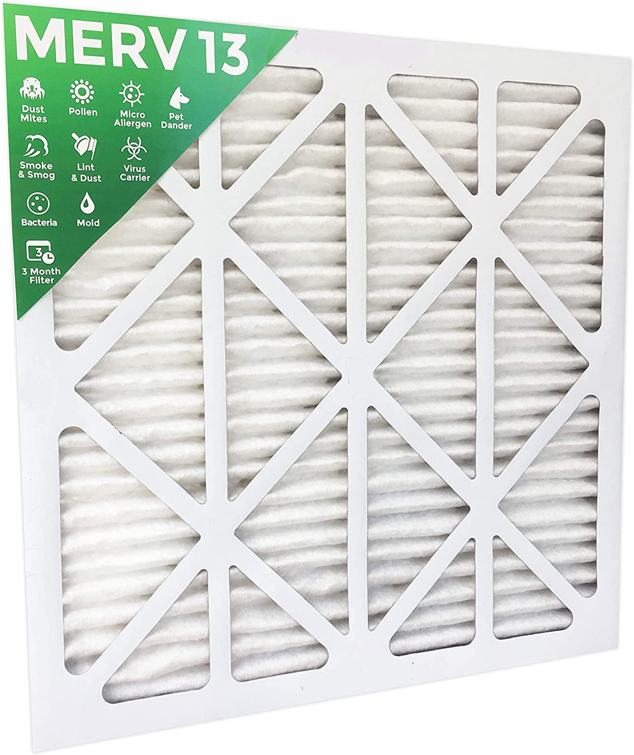 4 Pack MPR 2200 Pleated AC Furnace Air Filters 18x18x1 MERV 13