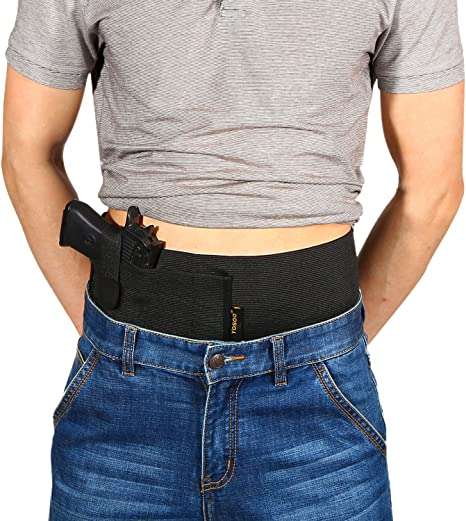wohuu Belly Band Holster Elastic Concealed Carry Hand Gun
