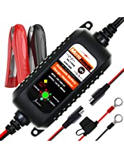 MOTOPOWER MP00205A 12V 800mA Fully Automatic Battery Charger/Maintainer for Cars, Motorcycles, ATVs, RVs, Powersports, Boat and More. Maximize The Battery Life and Performance