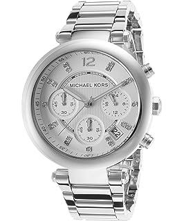 f17838a07887 Michael Kors MK5275 Women s Glitz Rare Silver Tone Stainless Steel Bracelet  Chronograph Watch