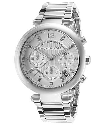 michael kors women's parker silver tone watch