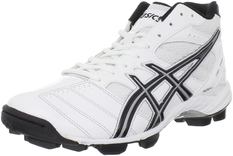 ASICS Men's GEL-Prevail Mid Lacrosse Shoe B0058CBE3C 10 D(M) US White/Black/Silver