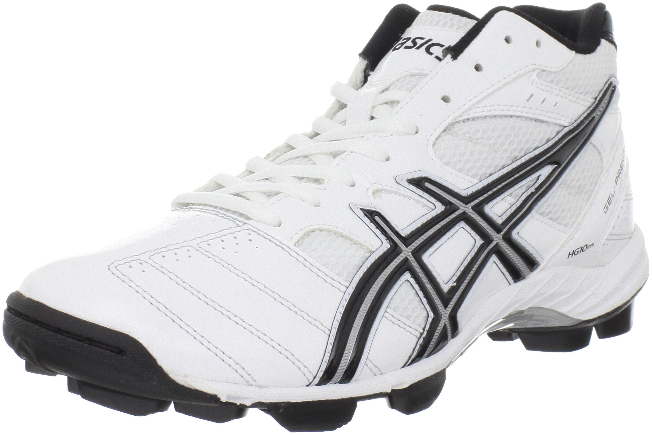ASICS Men's GEL-Prevail Mid Lacrosse Shoe,White/Black/Silver,13 M US