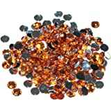 Pack of 1000 x Orange Crystal Flat Back Rhinestone Diamante Gems 4mm