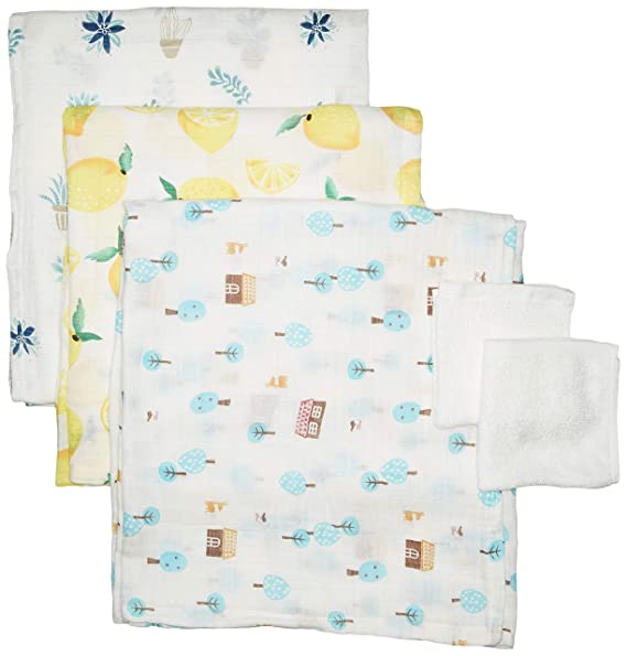 3 Pack Ultra-Soft Organic Bamboo Swaddle Baby Blankets Bonus Washcloths  53cef4d47