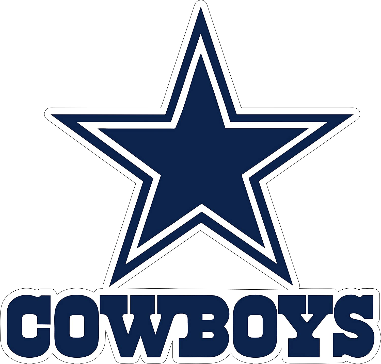 Dallas Star Stickers Team Colors (4 Size) Dallas Cowboy Logo Decal Vinyl for car bamper, hemlet, Laptop, tumblers (9