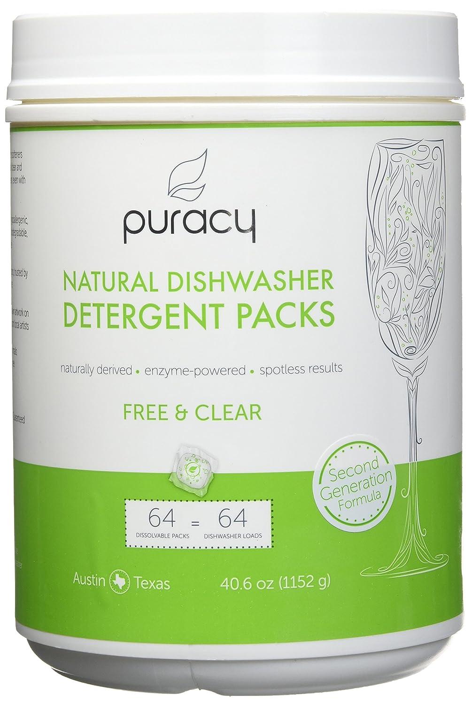 puracy Natural lavavajillas detergente paquetes, 2 nd ...