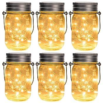 GIGALUMI Solar Mason Jar String Lights