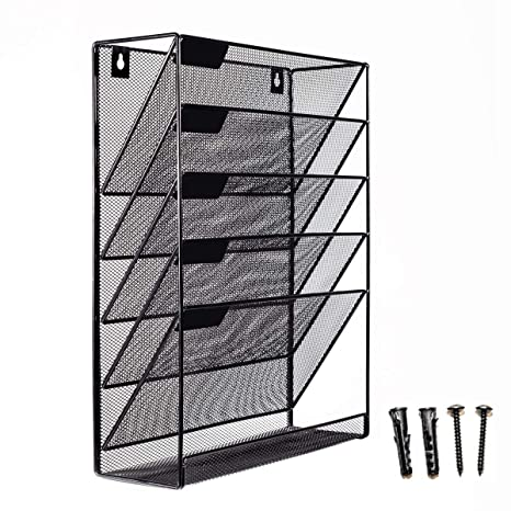 Amazon.: Mesh Wall Mounted Hanging Mail Document File Holder