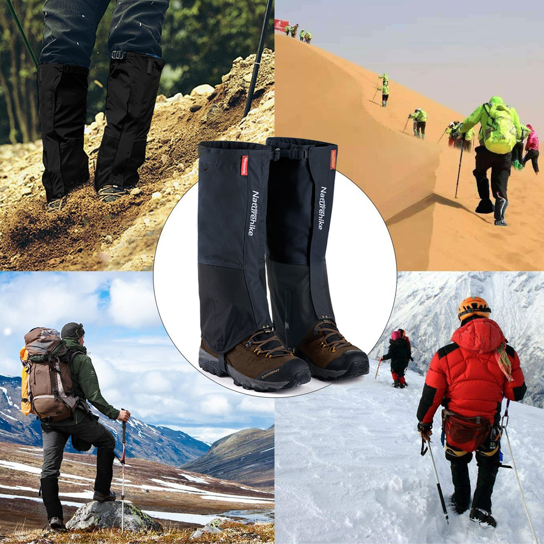 Naturehike al aire libre monta/ña nieve Legging polainas senderismo para senderismo caza esqu/í impermeable y a prueba de viento zapatos cubierta escalada