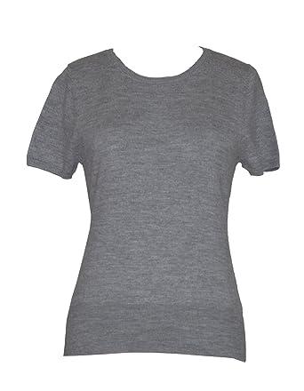 e7e63740cc4278 Amazon.com: Doria Women's Short Sleeve 100% Merino Wool Basic Sweater:  Clothing