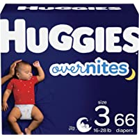 Huggies Overnites Nighttime Baby Diapers Size 3, 66 Ct