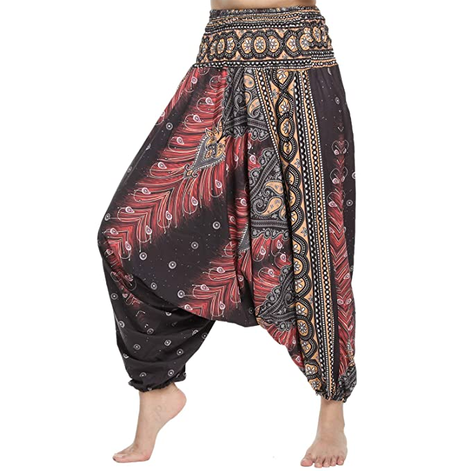 Amazon.com: Yofit - Pantalones de Harem para yoga, festival ...