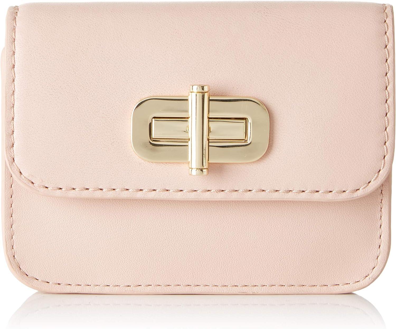 Tommy Hilfiger - Soft Leather SM Flap Wallet Bl, Carteras Mujer, Rosa (Blush), 2.5x9x11 cm (B x H T)