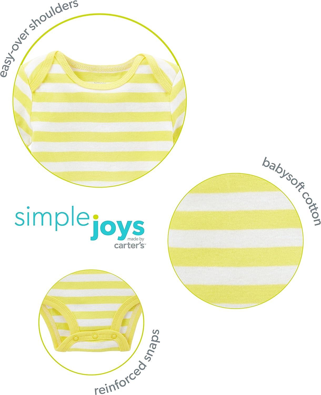 manga corta y larga Simple Joys by Carters Conjunto de 6 piezas de body para ni/ñas y pantalones